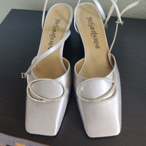 Yves St. Laurent silver shoes